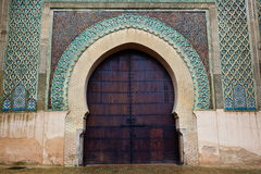 Arched, Moorish Style, exterior door to Mosque Royalty Free Stock Image