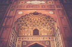 Arched Mosque Interior Royalty Free Stock Image