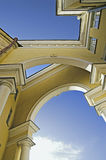 Arched old building. Intricate arched structure of old building royalty free stock photo