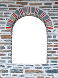 Arched opening of a stone wall Royalty Free Stock Images