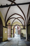 Arched Passage. Arch passage of Saint Nikolai Church, Stralsund, Germany Royalty Free Stock Images