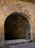 Arched passage in the fortress. Fragment of the fortification of the nineteenth century The Kiev Fortress Stock Images
