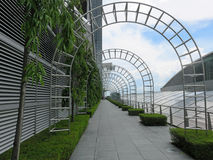 Arched passage in Gardens by Bay nature park in Singapore Stock Photo
