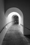 An arched passage Stock Image