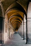 An arched passageway. Building in the town of Lucca, Italy Stock Photo