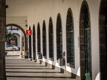 Arched passageway royalty free stock image