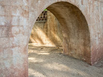 Arched passageway, Southwestern architecture royalty free stock photos