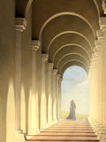 Arched pathway Stock Photos