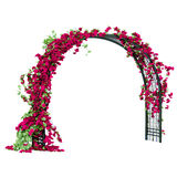 Arched pergola of black glossy metal Stock Images