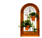 Arched Planter on White Stock Image