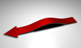 Arched red arrow Royalty Free Stock Photography