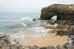 Arched Rock Formation, Robe, South Australia Royalty Free Stock Image