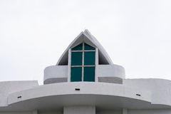 Arched roof on a white bulding Royalty Free Stock Photography