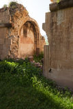 Arched ruined wall of Surb Karapet church Royalty Free Stock Photography