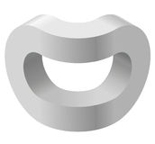 Arched shapes in isometric perspective,  on white background. Basic building blocks for creating abstract objects, backgro. Und. Gray three-dimensional round Stock Photo