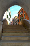 Arched staircase passage,Venice Royalty Free Stock Photos