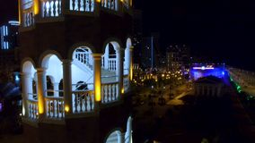 Arched staircase of tower in Batumi Georgia, restaurant and brewery, recreation. Stock footage stock video