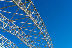 Arched steel structure of the ceiling of the special waste landfill in Koelliken Switzerland Royalty Free Stock Images
