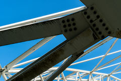 Arched steel structure of the ceiling of the special waste landfill in Koelliken Switzerland Royalty Free Stock Image
