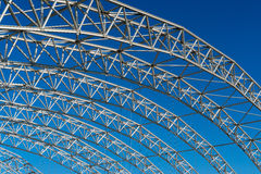 Arched steel structure of the ceiling of the special waste landfill in Koelliken Switzerland Stock Images