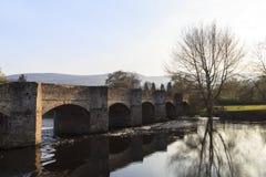 Arched Stone Bridge, Crickhowell Stock Image