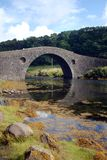 Arched stone bridge over river Royalty Free Stock Photography