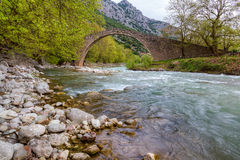 Arched stone bridge of Pyli, Thessaly, Greece Stock Photo