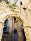 Arched stone entrance Stock Image