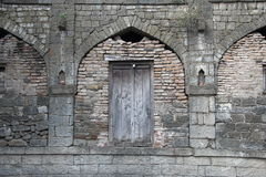 Arched stone Gate of Ausa Fort Royalty Free Stock Photography