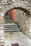 Arched stone stairs Stock Image