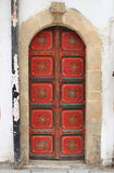 Arched style front door Stock Photo