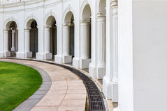 The Arched walkway on background Stock Image