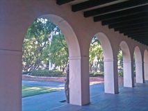 Arched Walkway in San Diego Stock Images