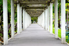 Arched walkways in the park Royalty Free Stock Image