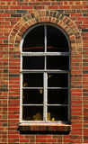 Arched Window Brick Wall. Arched window in a red brick wall Stock Photography