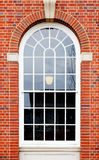 Arched window brick wall Royalty Free Stock Photo