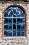 Arched Window detail industrial building Stock Images