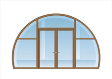 Arched window and door Royalty Free Stock Photography