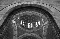 Arched window ironwork pattern Royalty Free Stock Photos