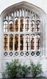 Arched window, king's College, Cambridge. Stock Image