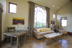 Arched Window In Living Room Stock Images