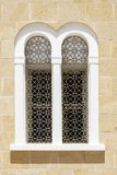 Arched window with openwork bars Stock Photography