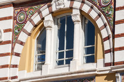 Arched window with ornaments Royalty Free Stock Image