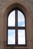 Arched Window with sky Royalty Free Stock Image