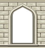 Arched Window, Stone Royalty Free Stock Photos