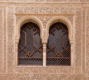 arched windows at alhambra Royalty Free Stock Photography
