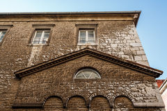 Arched Windows in Ancient House in Pula Stock Photos