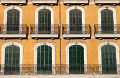 Arched windows with balcony Stock Image