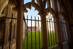 Arched windows and courtyard. Royalty Free Stock Image