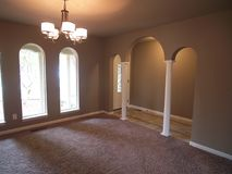 Arched Windows and front hall way Stock Photography